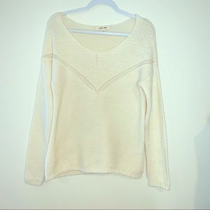 Pink rose • Cream  Sweater • SZ Small